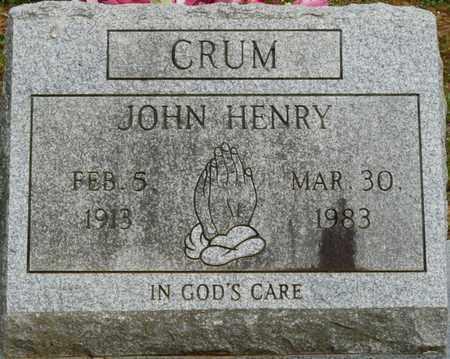 CRUM, JOHN HENRY - Colbert County, Alabama   JOHN HENRY CRUM - Alabama Gravestone Photos