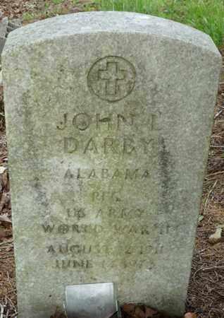 DARBY (VETERAN WWII), JOHN L - Colbert County, Alabama   JOHN L DARBY (VETERAN WWII) - Alabama Gravestone Photos