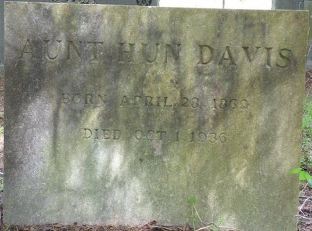 DAVIS, AUNT HUN - Colbert County, Alabama   AUNT HUN DAVIS - Alabama Gravestone Photos