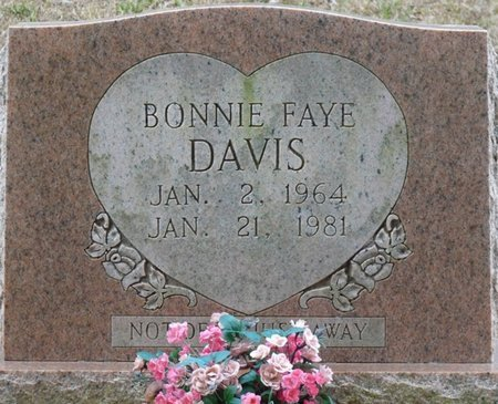 DAVIS, BONNIE FAYE - Colbert County, Alabama   BONNIE FAYE DAVIS - Alabama Gravestone Photos