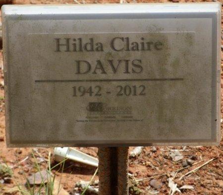 DAVIS, HILDA CLAIRE - Colbert County, Alabama | HILDA CLAIRE DAVIS - Alabama Gravestone Photos