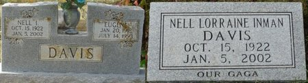 INMAN DAVIS, NELL LORRAINE - Colbert County, Alabama | NELL LORRAINE INMAN DAVIS - Alabama Gravestone Photos