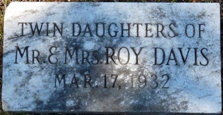 DAVIS, TWIN DAUGHTERS - Colbert County, Alabama | TWIN DAUGHTERS DAVIS - Alabama Gravestone Photos