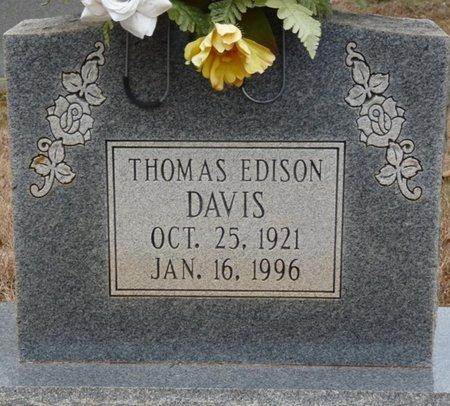 DAVIS, THOMAS EDISON - Colbert County, Alabama | THOMAS EDISON DAVIS - Alabama Gravestone Photos