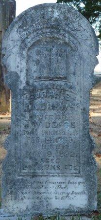 ANDREWS DEFOE, SARAH B - Colbert County, Alabama | SARAH B ANDREWS DEFOE - Alabama Gravestone Photos