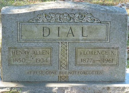 DIAL, HENRY ALLEN - Colbert County, Alabama   HENRY ALLEN DIAL - Alabama Gravestone Photos
