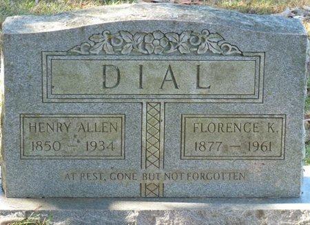 DIAL, FLORENCE K - Colbert County, Alabama | FLORENCE K DIAL - Alabama Gravestone Photos