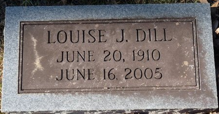 DILL, LOUISE - Colbert County, Alabama | LOUISE DILL - Alabama Gravestone Photos
