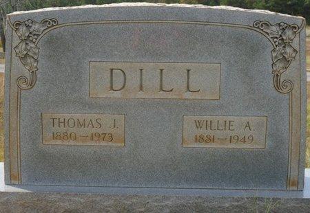 DILL, WILLIE A - Colbert County, Alabama | WILLIE A DILL - Alabama Gravestone Photos