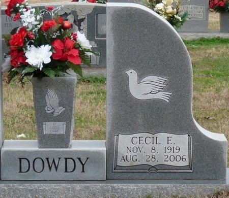 DOWDY, CECIL EDWARD - Colbert County, Alabama | CECIL EDWARD DOWDY - Alabama Gravestone Photos