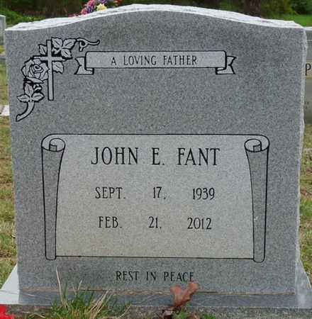 FANT, JOHN E - Colbert County, Alabama | JOHN E FANT - Alabama Gravestone Photos