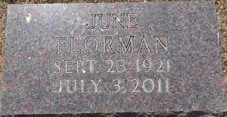 FLORMAN, JUNE - Colbert County, Alabama | JUNE FLORMAN - Alabama Gravestone Photos