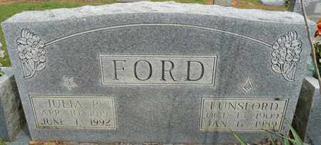 FORD, JULIA P - Colbert County, Alabama | JULIA P FORD - Alabama Gravestone Photos