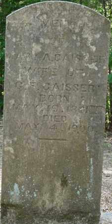 GAISSER, MARY A - Colbert County, Alabama | MARY A GAISSER - Alabama Gravestone Photos