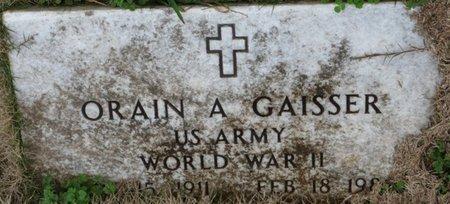 GAISSER (VETERAN WWII), ORAIN A - Colbert County, Alabama | ORAIN A GAISSER (VETERAN WWII) - Alabama Gravestone Photos