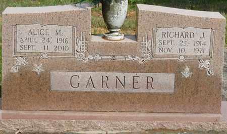GARNER, RICHARD J - Colbert County, Alabama | RICHARD J GARNER - Alabama Gravestone Photos