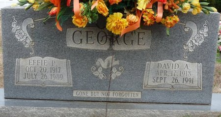 MINOR GEORGE, EFFIE PARALEE - Colbert County, Alabama | EFFIE PARALEE MINOR GEORGE - Alabama Gravestone Photos