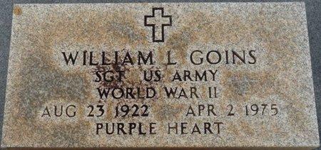 GOINS (VETERAN WWII), WILLIAM L - Colbert County, Alabama | WILLIAM L GOINS (VETERAN WWII) - Alabama Gravestone Photos