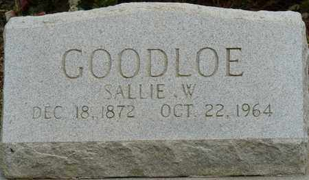 GOODLOE, SALLIE W - Colbert County, Alabama | SALLIE W GOODLOE - Alabama Gravestone Photos