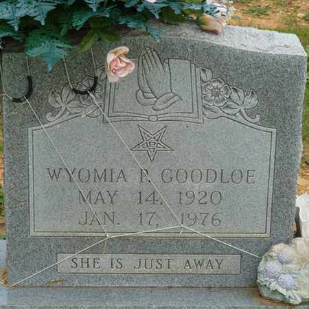 GOODLOE, WYOMIA P - Colbert County, Alabama | WYOMIA P GOODLOE - Alabama Gravestone Photos