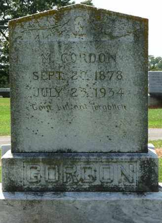 GORDON, M - Colbert County, Alabama   M GORDON - Alabama Gravestone Photos