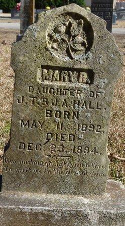 HALL, MARY A - Colbert County, Alabama | MARY A HALL - Alabama Gravestone Photos