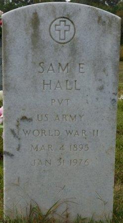 HALL (VETERAN WWII), SAMUEL ERNEST - Colbert County, Alabama   SAMUEL ERNEST HALL (VETERAN WWII) - Alabama Gravestone Photos
