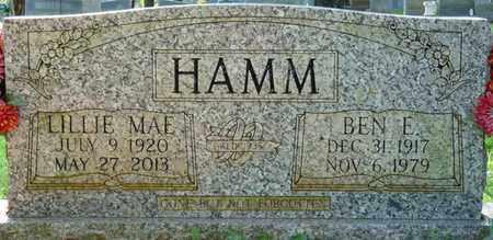 HAMM, BEN E - Colbert County, Alabama | BEN E HAMM - Alabama Gravestone Photos