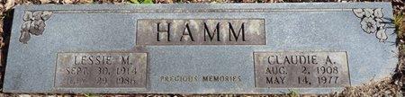 HAMM, CLAUDIE A - Colbert County, Alabama | CLAUDIE A HAMM - Alabama Gravestone Photos