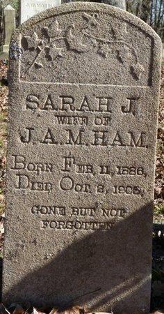 HAMM, SARAH J - Colbert County, Alabama   SARAH J HAMM - Alabama Gravestone Photos