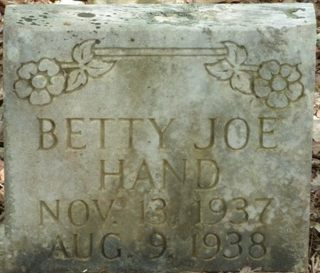 HAND, BETTY JOE - Colbert County, Alabama | BETTY JOE HAND - Alabama Gravestone Photos