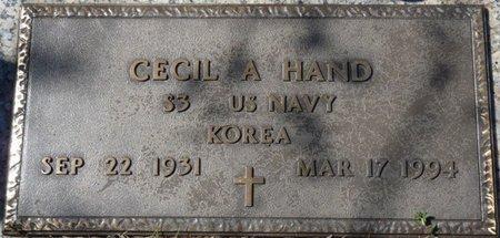 HAND (VETERAN KOREA), CECIL A - Colbert County, Alabama | CECIL A HAND (VETERAN KOREA) - Alabama Gravestone Photos