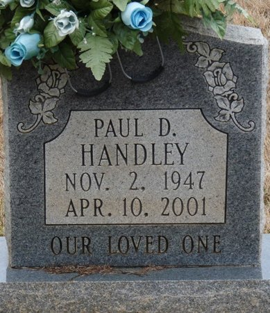 HANDLEY, PAUL D - Colbert County, Alabama | PAUL D HANDLEY - Alabama Gravestone Photos