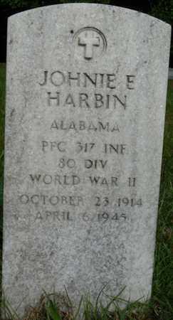 HARBIN (VETERAN WWII), JOHNIE E - Colbert County, Alabama   JOHNIE E HARBIN (VETERAN WWII) - Alabama Gravestone Photos