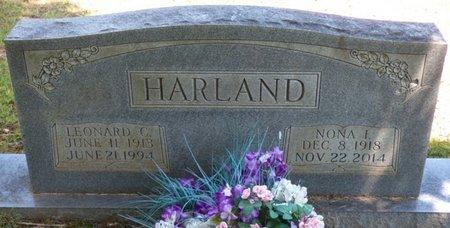 HARLAND, NONA I - Colbert County, Alabama   NONA I HARLAND - Alabama Gravestone Photos