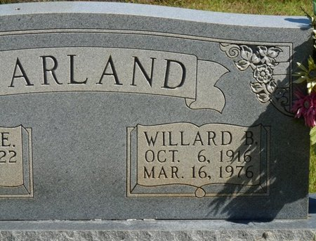 HARLAND, WILLARD B - Colbert County, Alabama | WILLARD B HARLAND - Alabama Gravestone Photos