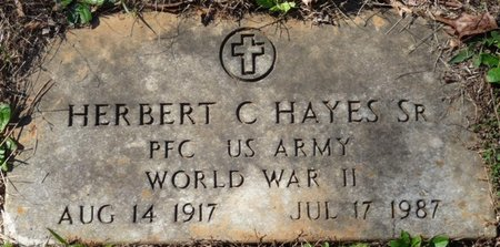 HAYES SR. (VETERAN WWII), HERBERT C - Colbert County, Alabama | HERBERT C HAYES SR. (VETERAN WWII) - Alabama Gravestone Photos