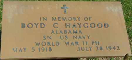 HAYGOOD (VETERAN WWII), BOYD C - Colbert County, Alabama | BOYD C HAYGOOD (VETERAN WWII) - Alabama Gravestone Photos