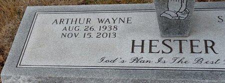 HESTER, ARTHUR WAYNE - Colbert County, Alabama | ARTHUR WAYNE HESTER - Alabama Gravestone Photos