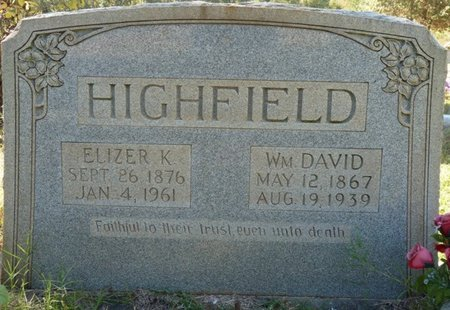 HIGHFIELD, ELIZER K - Colbert County, Alabama | ELIZER K HIGHFIELD - Alabama Gravestone Photos