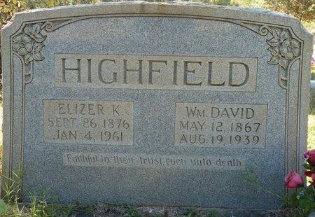 HIGHFIELD, WILLIAM DAVID - Colbert County, Alabama | WILLIAM DAVID HIGHFIELD - Alabama Gravestone Photos