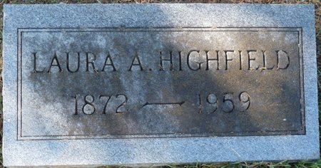HIGHFIELD, LAURA A - Colbert County, Alabama | LAURA A HIGHFIELD - Alabama Gravestone Photos