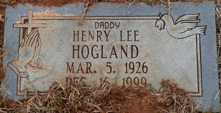 HOGLAND, HENRY LEE - Colbert County, Alabama | HENRY LEE HOGLAND - Alabama Gravestone Photos