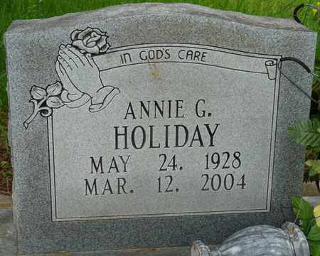 HOLIDAY, ANNIE G - Colbert County, Alabama   ANNIE G HOLIDAY - Alabama Gravestone Photos
