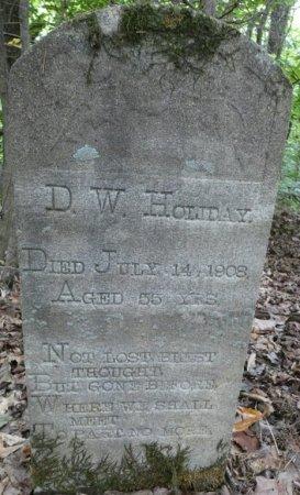 HOLIDAY, DAVID W - Colbert County, Alabama | DAVID W HOLIDAY - Alabama Gravestone Photos