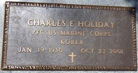 HOLIDAY (VETERAN KOR), CHARLES E - Colbert County, Alabama | CHARLES E HOLIDAY (VETERAN KOR) - Alabama Gravestone Photos