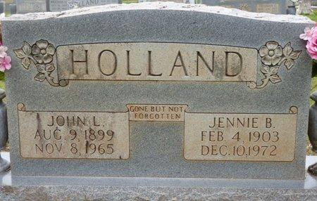 HOLLAND, JENNIE B - Colbert County, Alabama | JENNIE B HOLLAND - Alabama Gravestone Photos