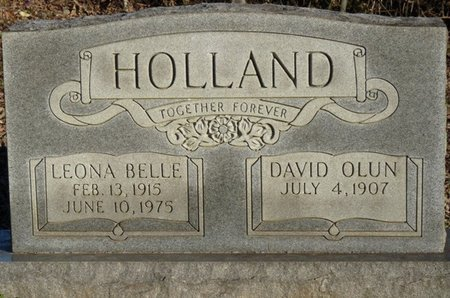 HOLLAND, LEONA BELLE - Colbert County, Alabama | LEONA BELLE HOLLAND - Alabama Gravestone Photos