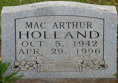 HOLLAND, MAC ARTHUR - Colbert County, Alabama | MAC ARTHUR HOLLAND - Alabama Gravestone Photos