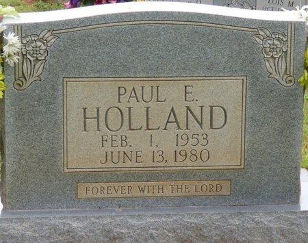 HOLLAND, PAUL E - Colbert County, Alabama   PAUL E HOLLAND - Alabama Gravestone Photos